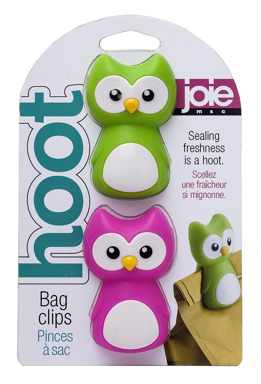 MSC International 10117 Joie Hoot Owl Bag Clips, Set of 2, Assorted