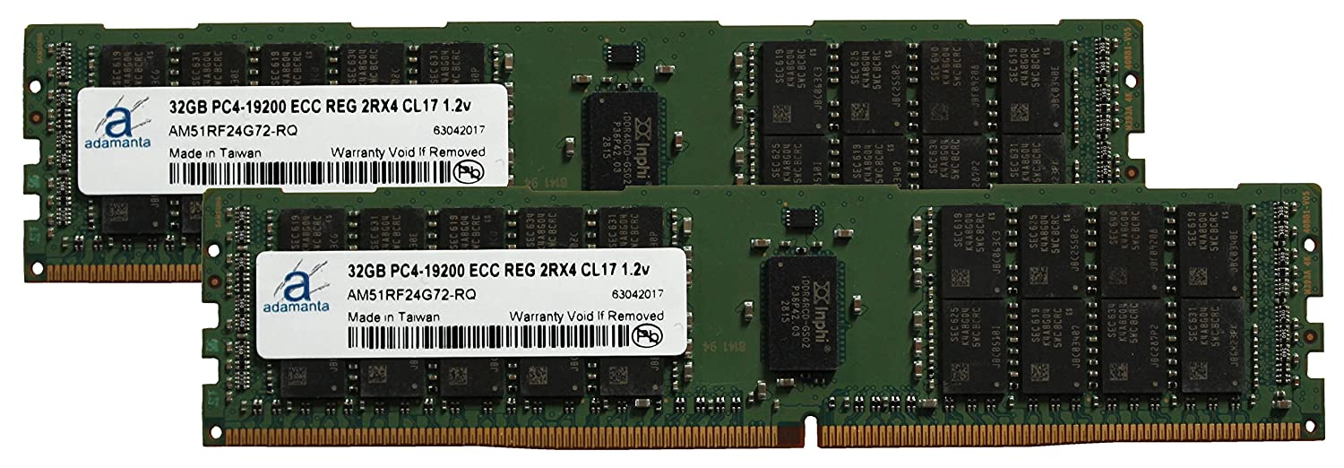 Adamanta 64 GB ( 2 x 32gb )サーバーメモリアップグレードfor Cisco UCS c220 m4 Server ddr4 2400 MHz pc4 – 19200 ECC Registeredチップ2rx4 cl17 1.2 V B01IE3FPPY