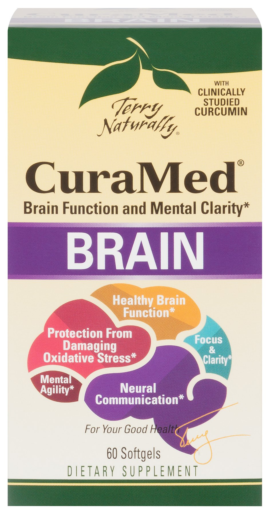 Terry Naturally Curamed Brain - 60 softgels