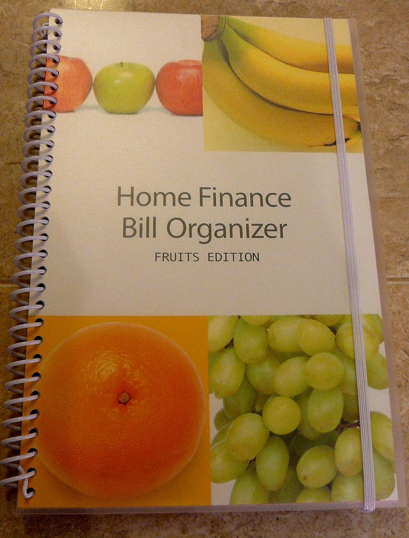 amazoncom bill organizer u0026 home finance with pockets fruits personal organizers office products - Bills Organizer