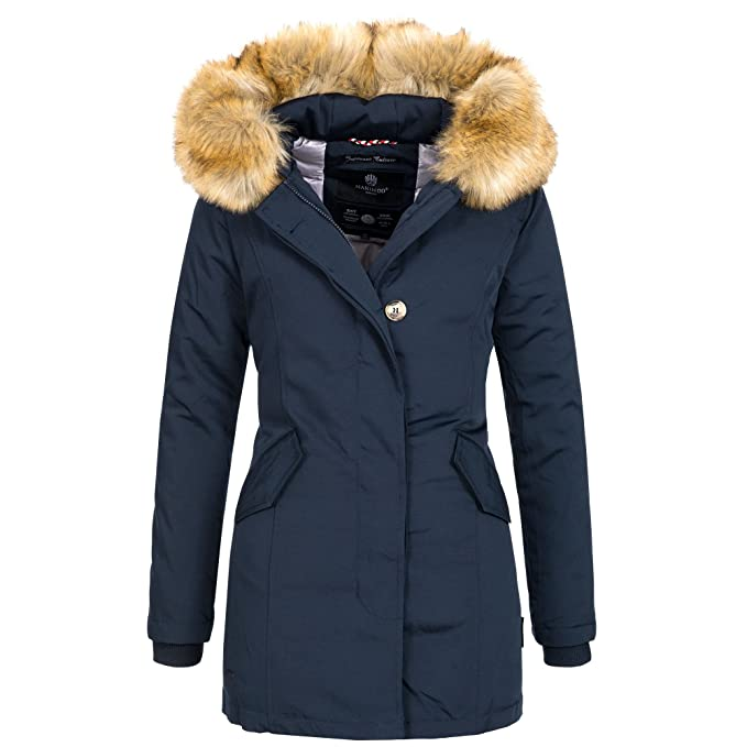 Marikoo KARMAA Damen Jacke Parka Mantel Winterjacke Warm gefüttert Luxus  XXL Kunstpelz 13 Farben XS-XXXXXL  Amazon.de  Bekleidung ac844cb1f2