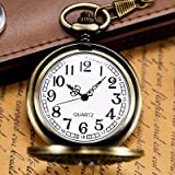 Morfong Pocket Watch Vintage Steampunk Butterfly