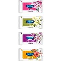 Deep Fresh Egzotik Çiçekler Cep Islak Mendilleri, Gül, 1 Paket (1 x 15 Adet)