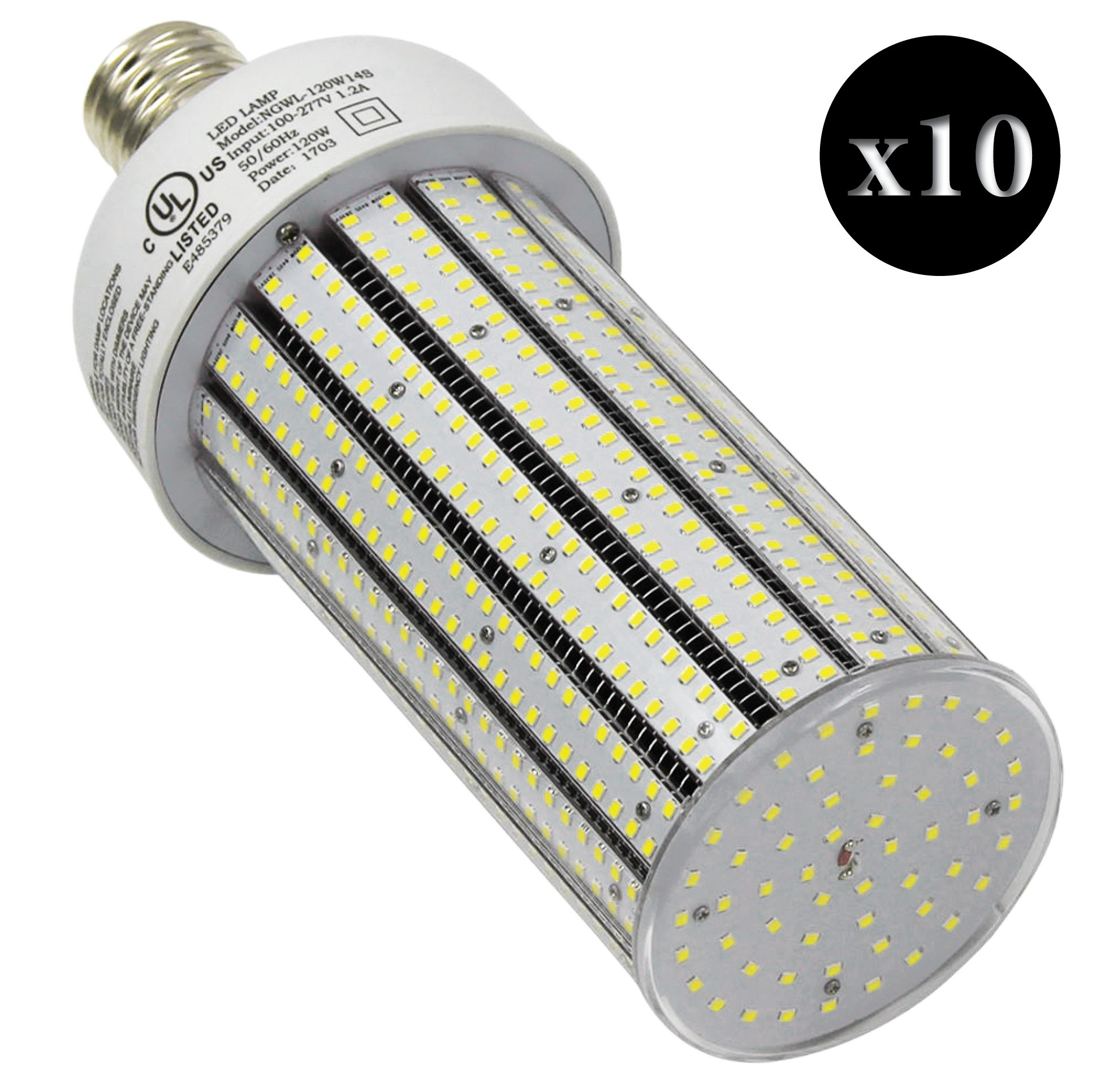QTY 10 CC120-39 LED HIGH BAY LED POST TOP LIGHT E39 6500K WHITE 120W (EQUIVALENT TO 720W)
