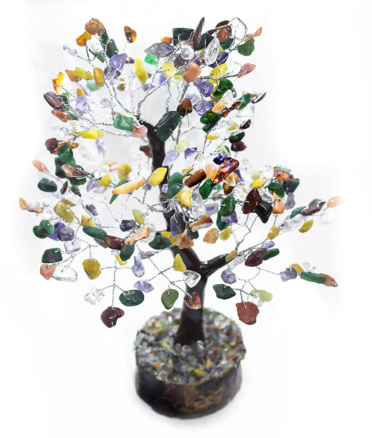 FASHIONZAADI Amethyst /& Citrine Natural Stone Feng Shui Bonsai Money Tree for Chakra Balancing Good Luck EMF Protection Healing Table D/écor Health Prosperity Size 10-12 inch Golden Wire