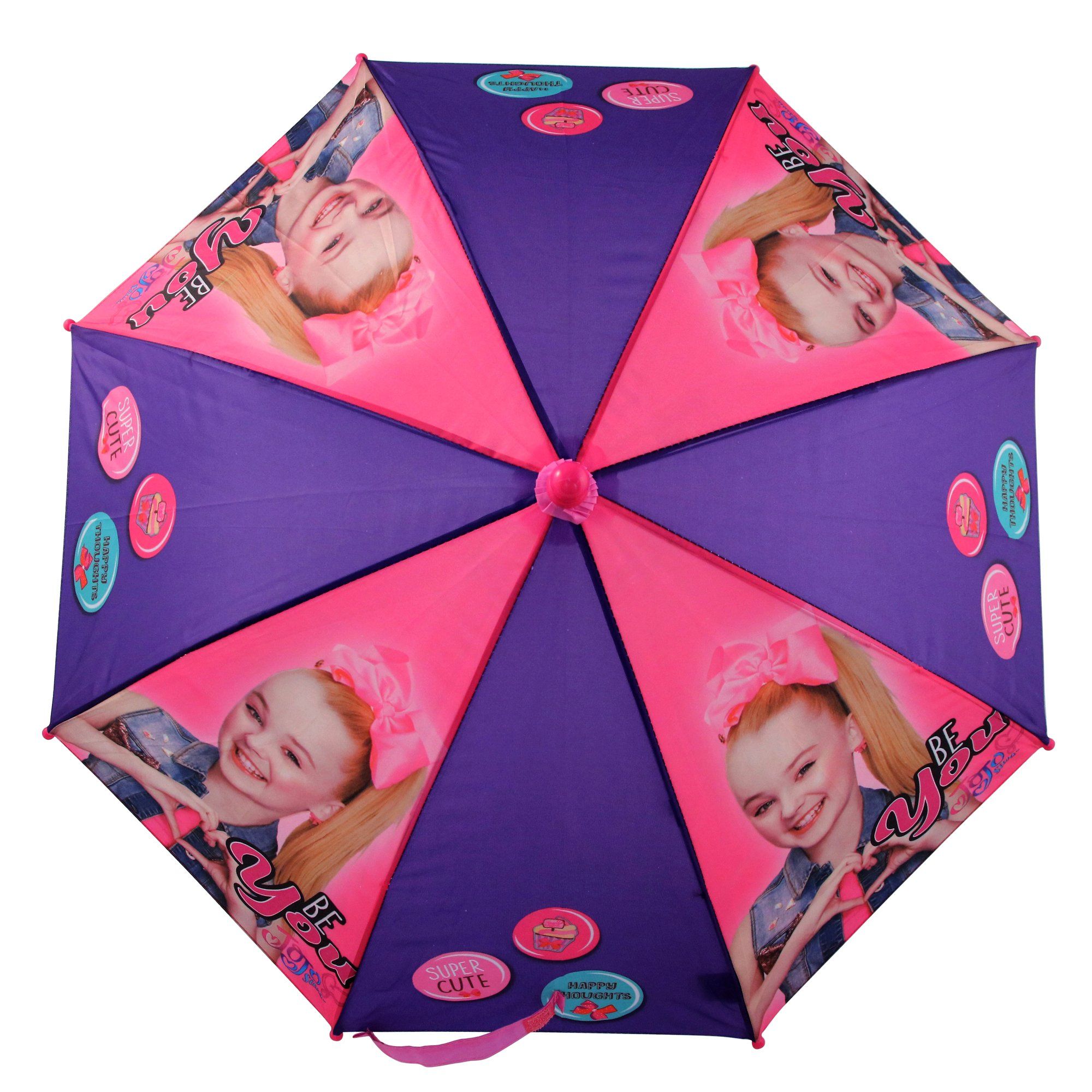 Nickelodeon Little Girls' Jojo Siwa Rainwear Character Umbrella, Purple/Pink, Age 3-7 by Nickelodeon (Image #5)