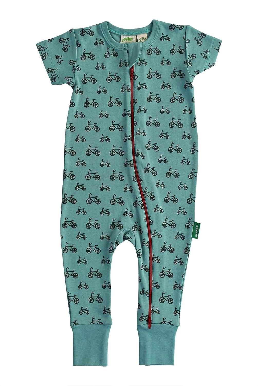 3b815f55e056 Amazon.com  Parade Organics Signature Print  2-Way  Zip Romper - Short  Sleeve  Clothing