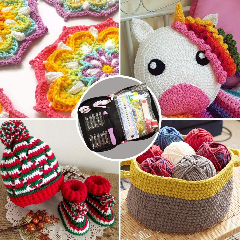 Amazon.com: Ganchos de crochet iluminados de valor Pack de 9 ...