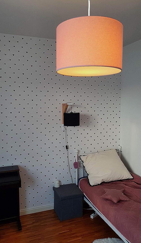 gro/ßer Lampenschirm 38x24cm tolle Kinderzimmer-Deko f/ür M/ädchen /& Junge hergestellt in der EU komplette Deckenlampe f/ür Kinderzimmer youngDECO Lampe f/ür Baby- und Kinderzimmer zartes Rosa
