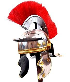 Amazoncom Roman Centurion Helmet W Red Plume Armor Gladiator New