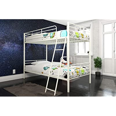 DHP Tailor Convertible Bunk bed, Converts to two Twin Beds, Twin-over-Twin, White: Kitchen & Dining