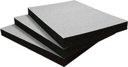 Shadow Foam Easy Peel 600 X 420 Mm Mousse Personnalisable Pour Organiser Les Boites A Outils Trois Pack Profondeur De 50mm Blanc Sur Noir Amazon Fr Bricolage