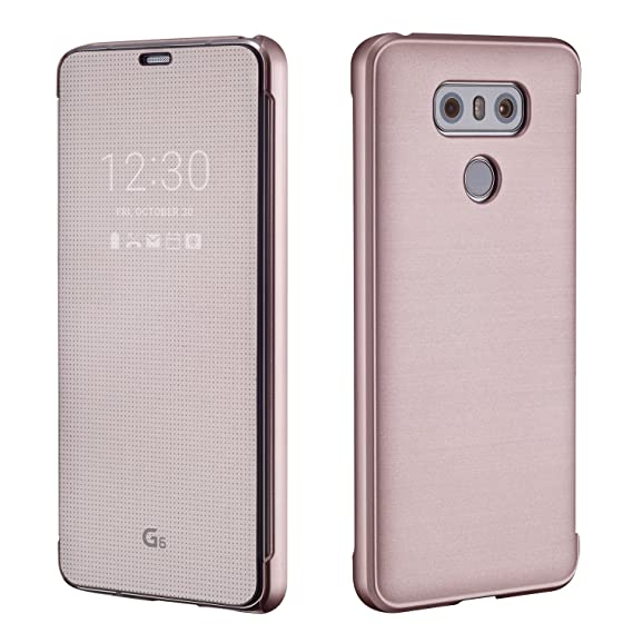 release date bf9e1 a00f4 VOIA LG G6 CleanUP Quick Cover PU Flip Case 4 colors - Tmobile, ATT,  Verizon (Pink)