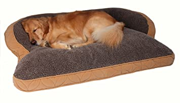 Incroyable Floppy Ears Design Microfiber And Fleece Surround Bolster Dog Bed, Large  Size (for Large
