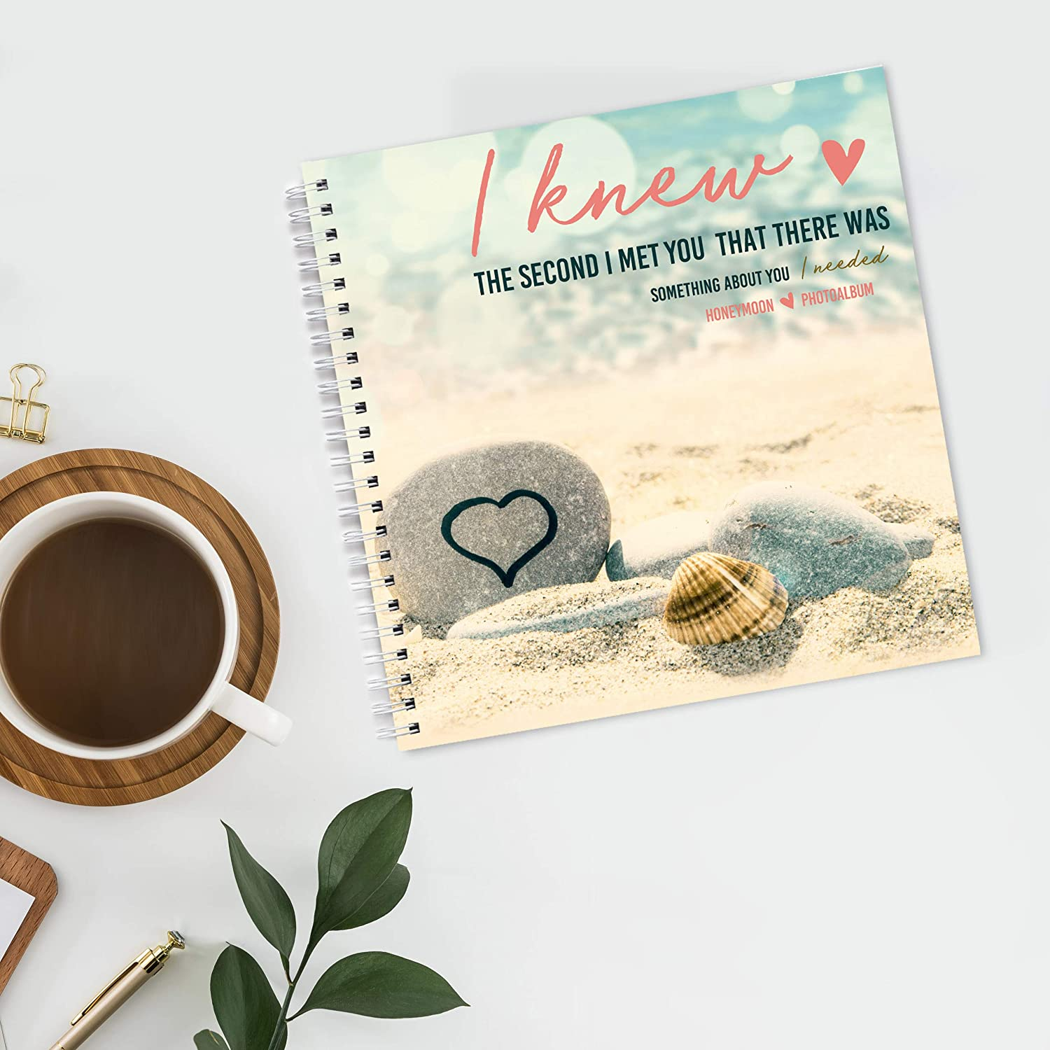 Special Traveling Gift for Newlyweds Cool Adventure Journal for Couples Honeymoon Travel Gifts GC Honeymoon Photo Album 8x8 Scrapbook for Newlywed Couple