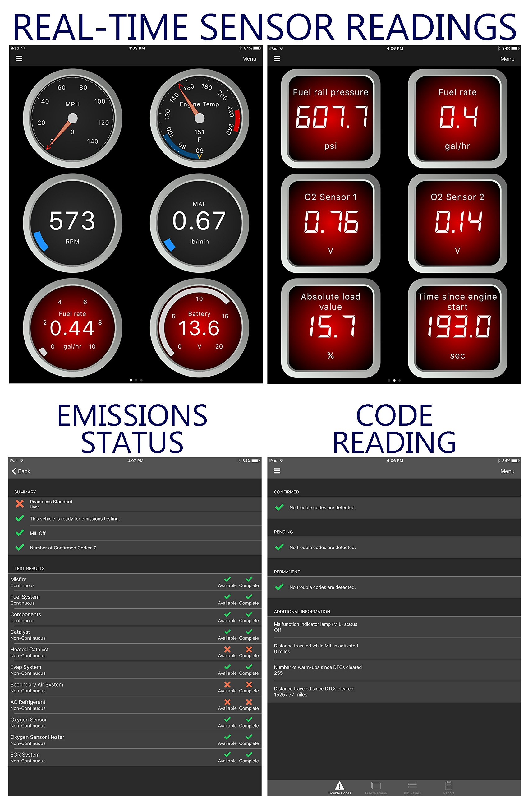 OBDII Code Reader /& Scanner for iOS Devices iPhone, iPad Wireless WiFi OBD2