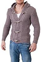 F&K Strickpullover Grobstrick Jacke Dufflecoat Pullover