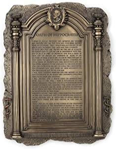 Hippocrates's Hippocratic Oath Plaque Physician Office Decor - Desktop or Wall Mount - Perfect for Doctors, Physicians, and Medical Field Graduates