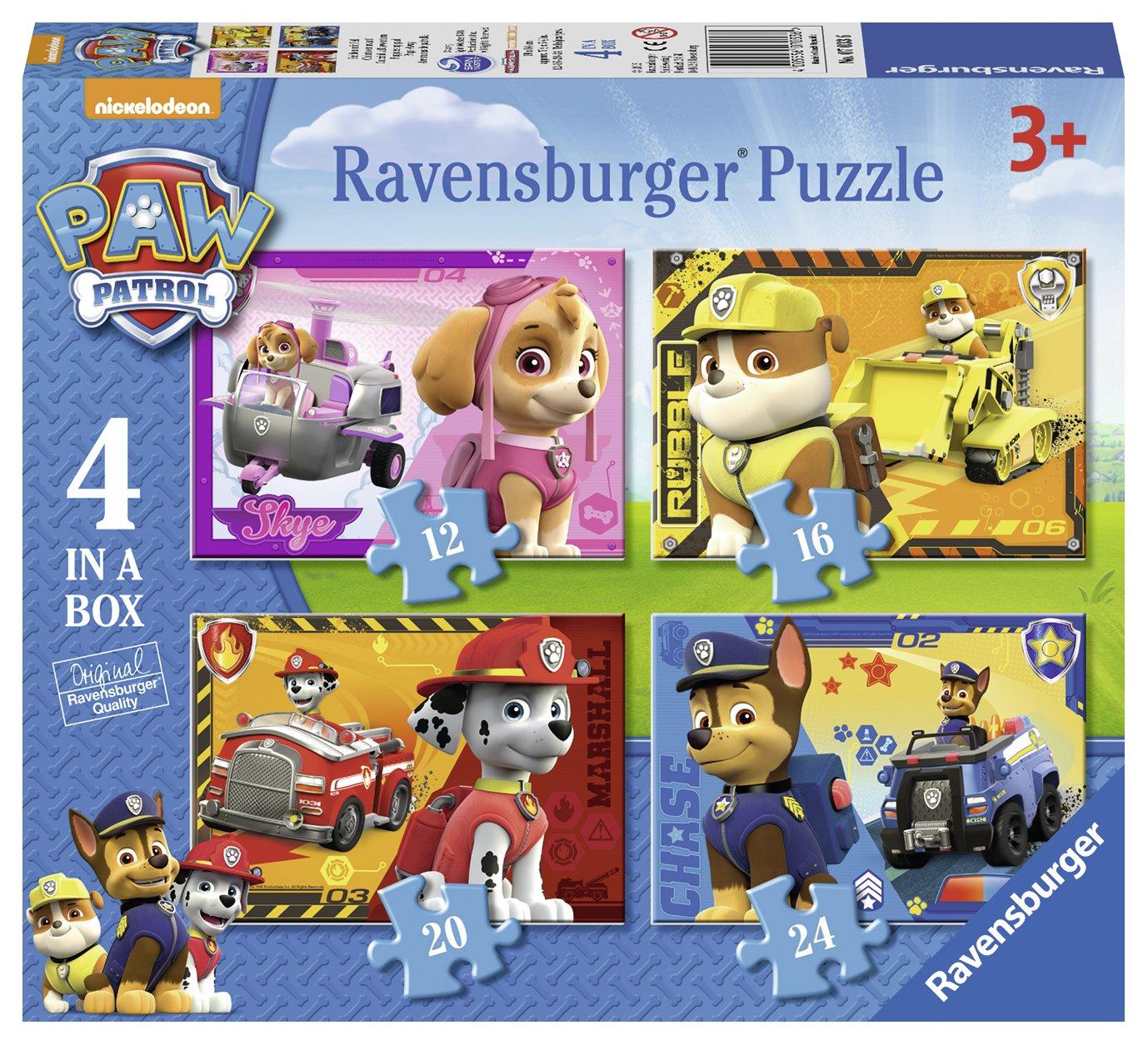 Ravensburger Paw Patrol Paquete de puzzles la caja con Paw Patrol