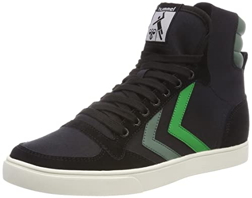 Unisex Adults Slimmer Stadil High Hi-Top Sneakers, Dunkelrot/Wei? Hummel