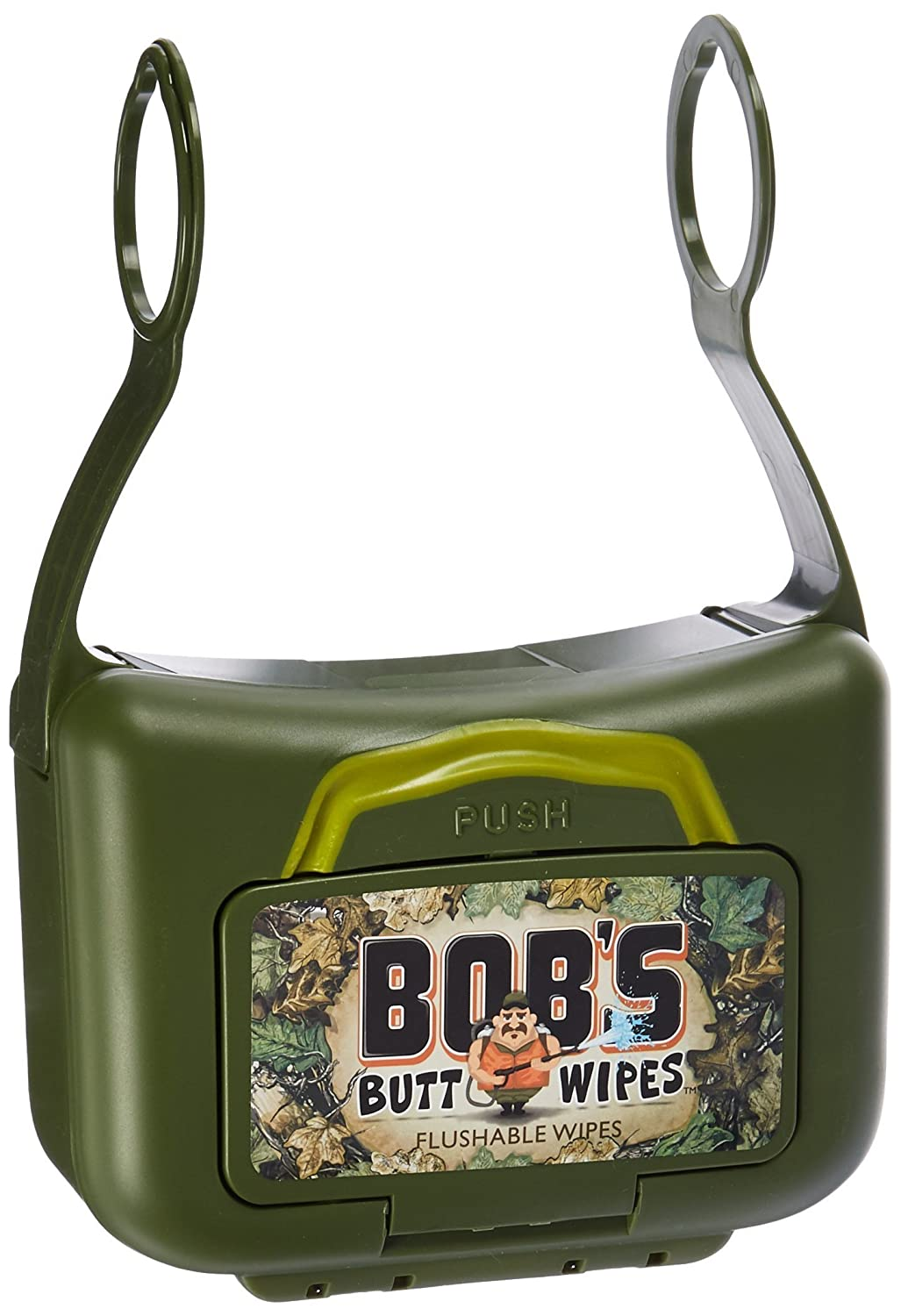 New Bob's Butt WipesTM Hanging Flushable Wipe Dispenser & 42ct Wipes Sterling Global Products BBW300T