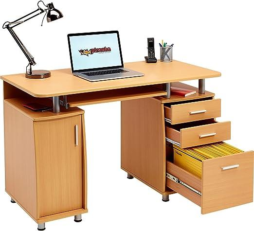 Escritorio Grande para Ordenador y Escritura con archivador A4, 2 ...