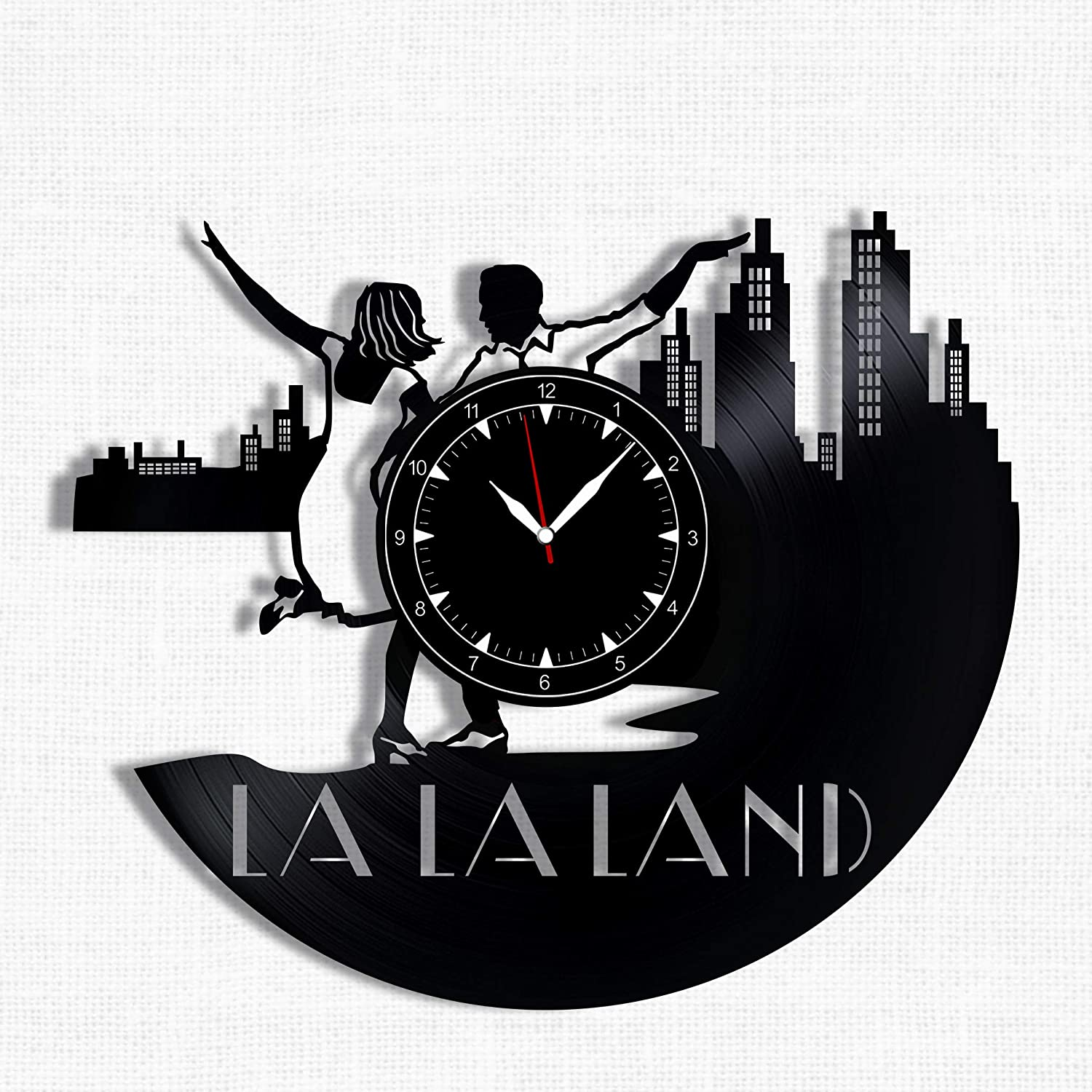 La La Land Vinyl Record Clock - Wall Clock La La Land - Best Gift for La La Land Lover - Original Wall Home Decor