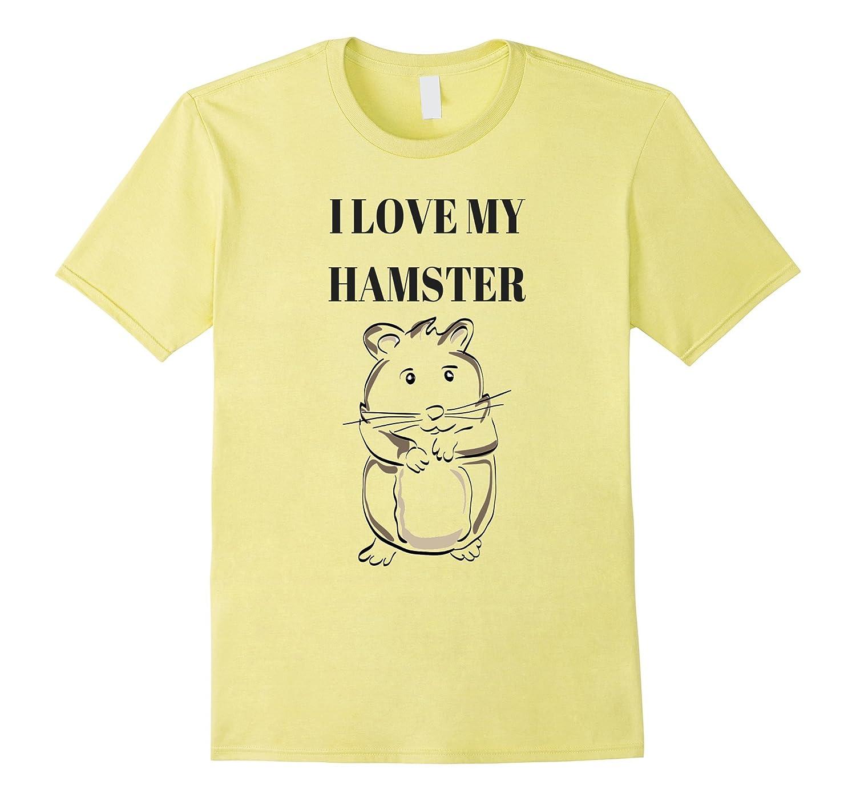 cute i love my hamster cartoon t shirt cl colamaga