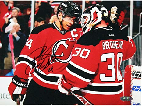 Amazon Com Bryce Salvador Signed New Jersey Devils 8x10 Photo With