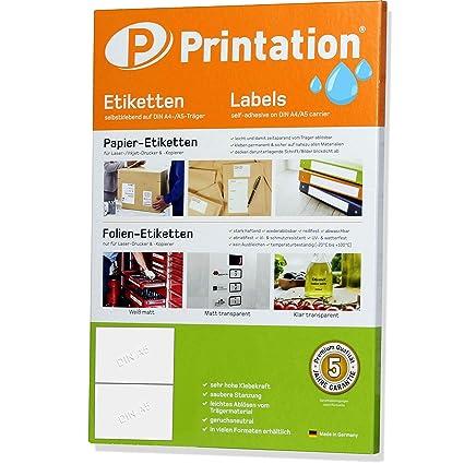 weiß 300 Etiketten A4 Bogen 210 x 95 mm selbstklebend 100 Blatt Papier