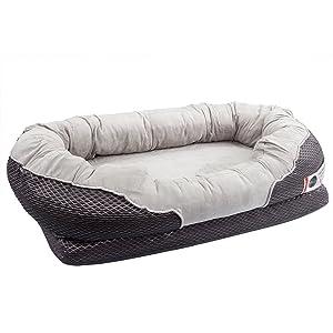 BarksBar Medium Gray Orthopedic Dog Bed