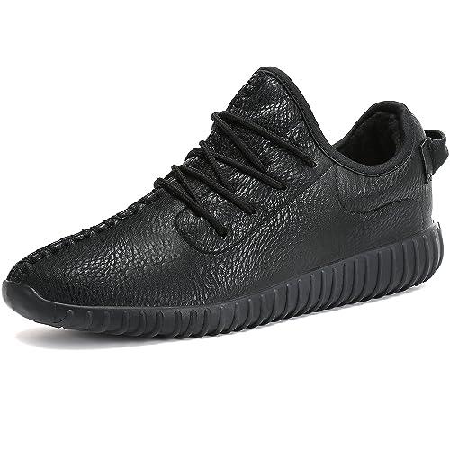 Mujer Hombre Zapatos Invierno Impermeables Casuales Zapatillas Cuero Calientes Forradas Mocasines Piel Cordón Planas Nieve Botas: Amazon.es: Zapatos y ...