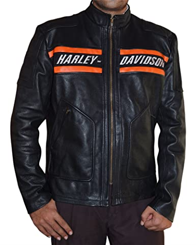 Harley Davidson Bill Goldberg Leather Jacket - Real Leather