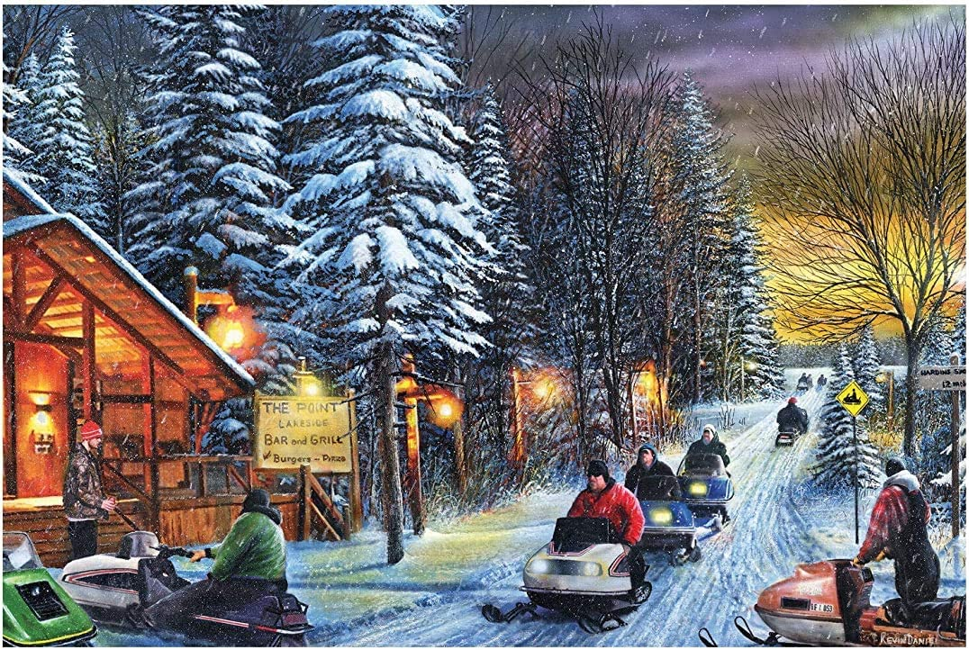 Metal Tin Sign Vintage Chic Art Decoration Snowmobiles for Home Bar Cafe Farm Store Garage or Club 12