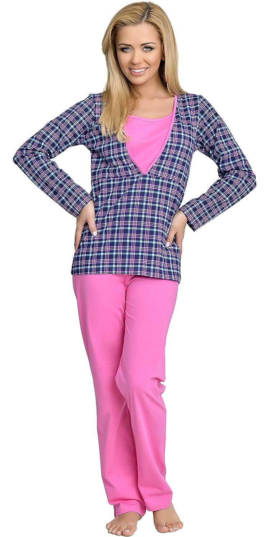 Be Mammy Mujer Lactancia Pijamas Dos Piezas Claudia: Amazon.es: Ropa y accesorios