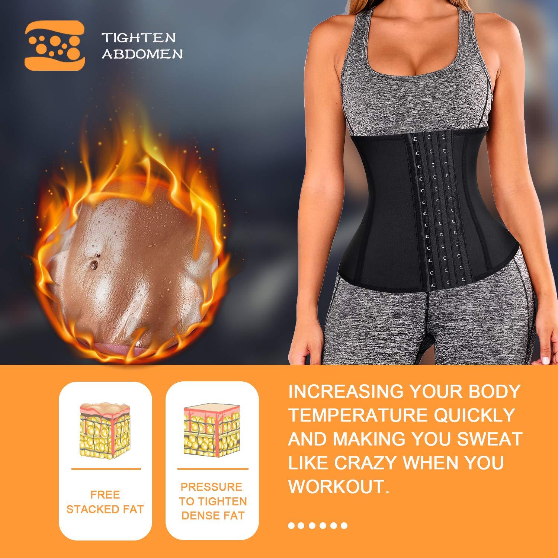 Wonderience Women Waist Trainer Corset Neoprene Sauna Suit Slimming Body Shaper for Weight Loss