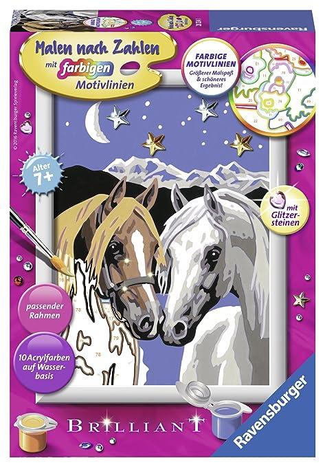 Ravensburger Kinder Spielzeug Malen nach Zahlen Pferd im Stall Malset NEU