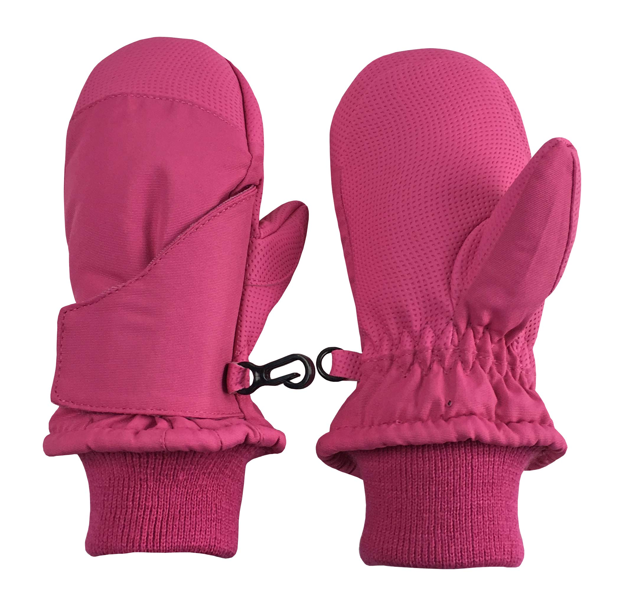 N'Ice Caps Kids and Baby Easy-On Wrap Waterproof Thinsulate Winter Snow Mitten (Fuchsia 2, 1-2 Years) by N'Ice Caps