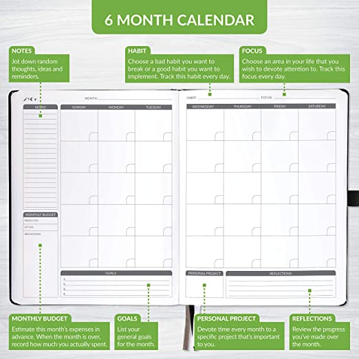 amazon com mountain planner pro large daily planner weekly