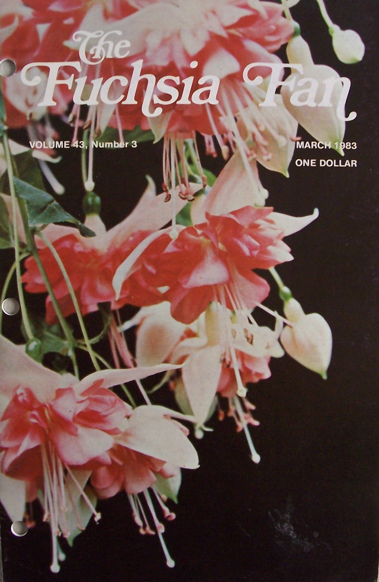 The Fuchsia Fan [ Vol. 43 No. 3, Mar. 1983 ] Single Monthly Issue (cover features Applause, Vol. 43 No. 3)
