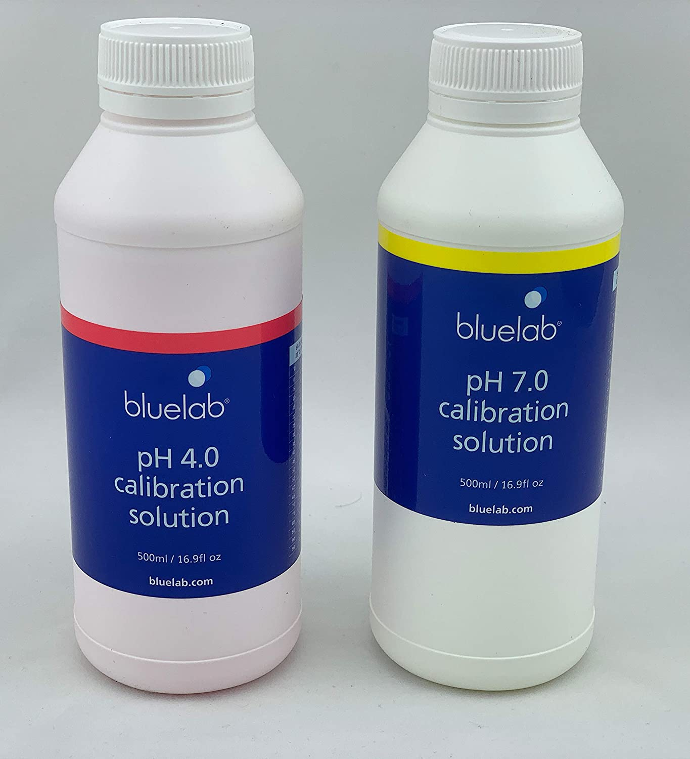 Blue-Lab 250 ml PH-4.0 + pH 7.0 - Solución de calibración para dispositivos de medición de electrodos de pH (250 ml, PH 4.0 + 7.0)