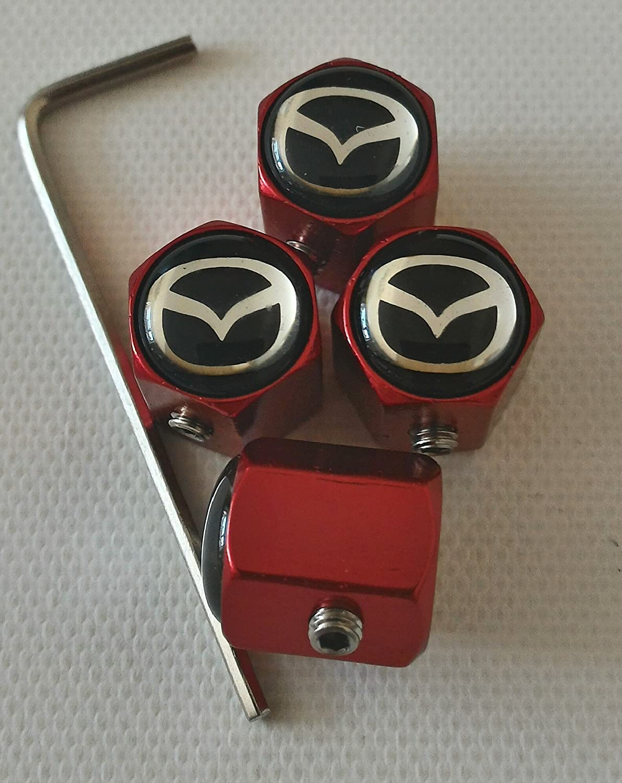 Speed Demons MAZDA rouge antivol auto vanne pneumatique poussi/ère casquettes EXCLUSIVE aux /États-Unis Capuchon de valve