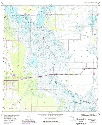 Titusville Florida Map.Amazon Com 1953 Titusville Fl Usgs Historical Topographic Map