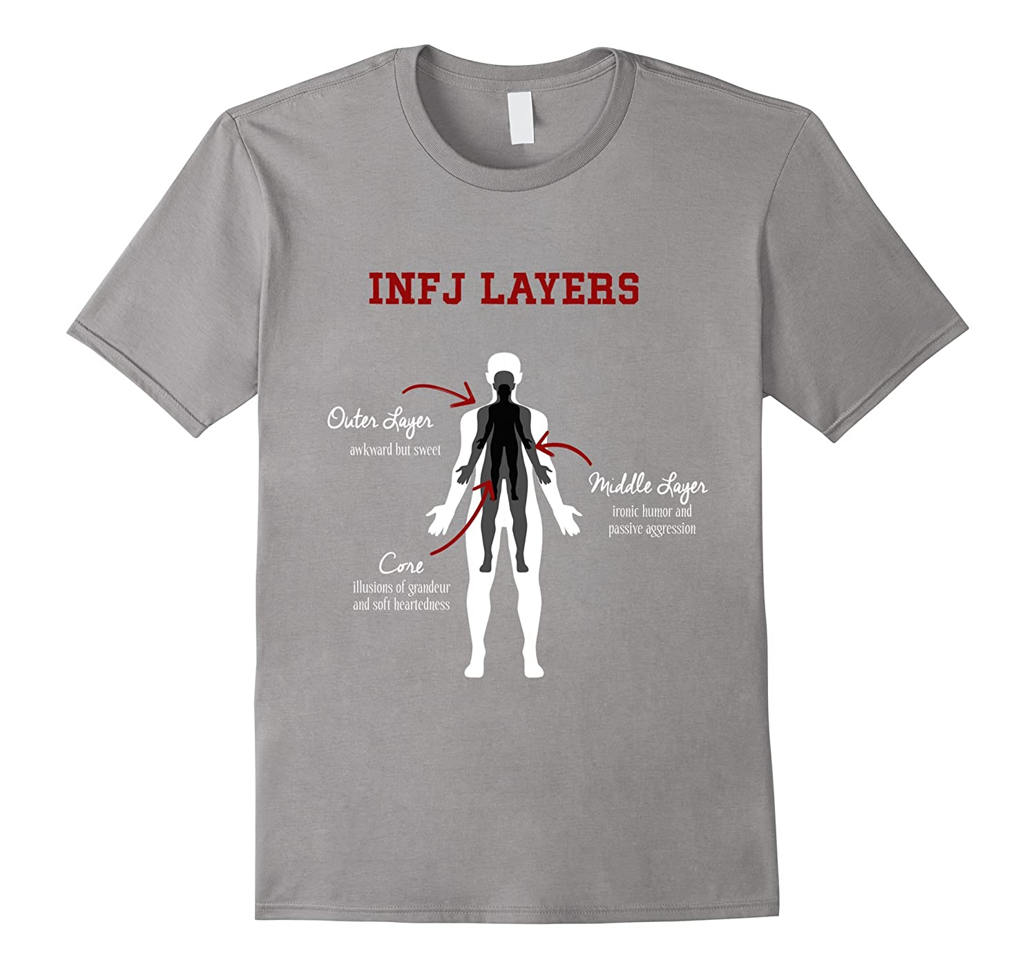 INFJ Layers Personality Advocate Diplomat Opinionated Tee-PL