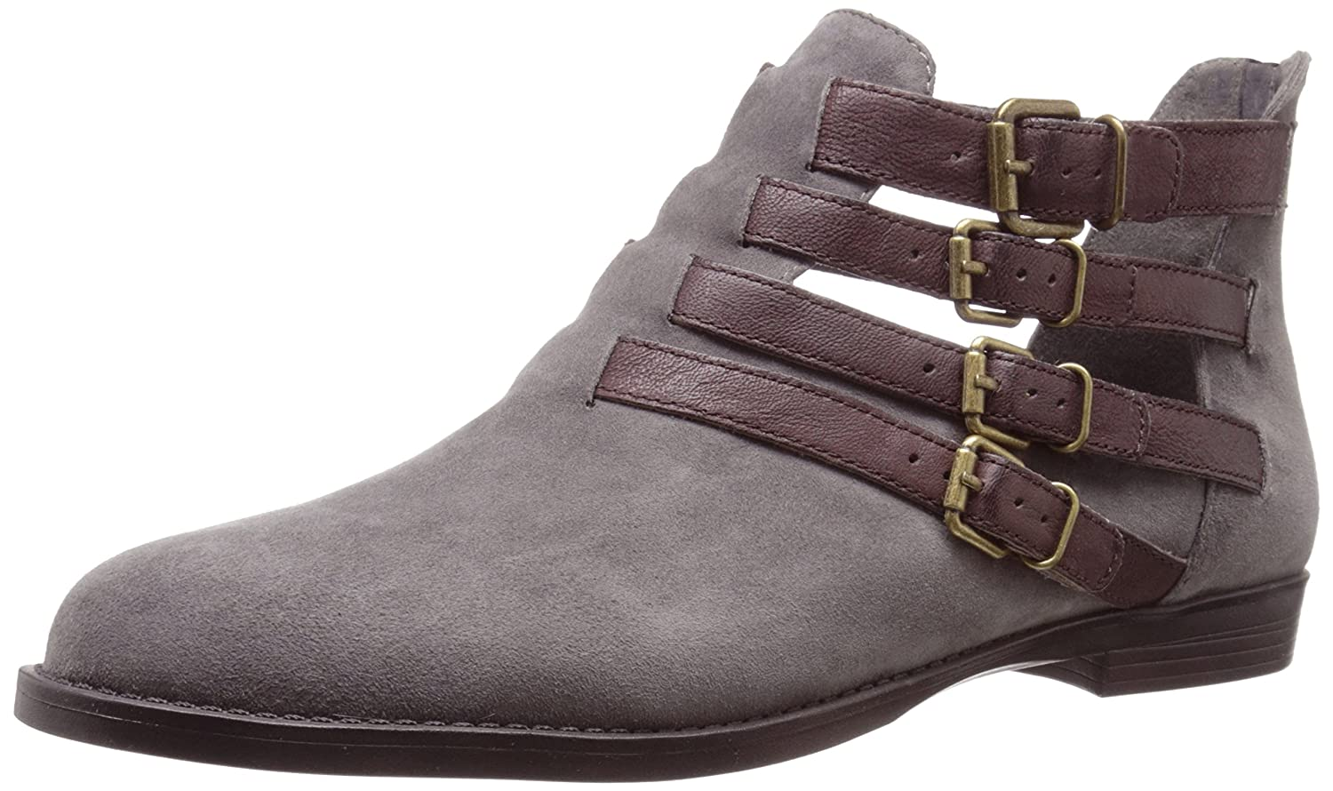 Bella Vita Women's Ronan Boot B00ZIE2Y3E 6 W US|Grey Suede/Chestnut