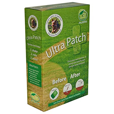 Ultra patch lawn repair grass seed 1. 5kg natural fast growing dog.