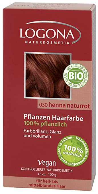 Amazon.com : Logona Herbal Hair Color Henna, Red, 100 Gram ...