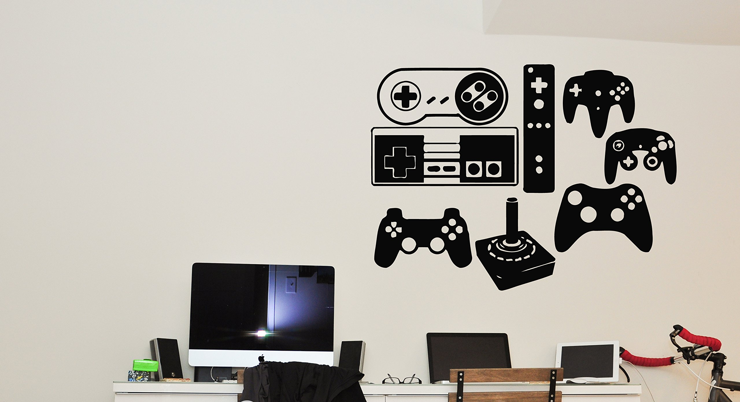 Wall Vinyl Sticker Decals Mural Room Design Pattern bedroom computer video games x box controller nursery bo2665