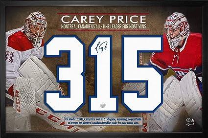 carey price framed jersey