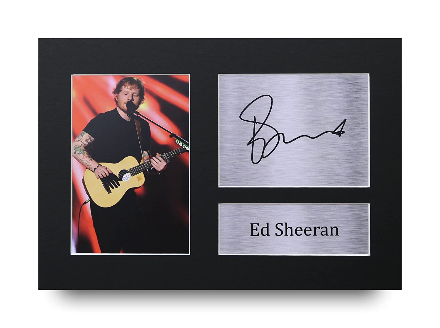 Ed Sheeran Signed A4 Printed Autograph Music Print Photo Picture Display - Great Gift Idea HWC Trading